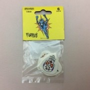 Kit Pacote 6pçs Palheta Dunlop Blackline 1.0mm
