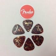 Kit Pacote 6pçs Palhetas Fender Shell Thin Tradicional