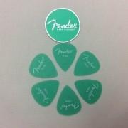 Kit Pacote 6pçs Palheta Fender California Thin