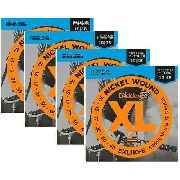 Kit 4sets Encordoamento Guitarra D Addario Exl 110b 010/046