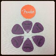 Kit Pacote 6pçs Palheta Fender Pick 1.14 Extra Heavy