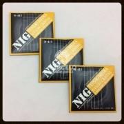 Kit 3sets Encordoamento Violão Nylon Nig Media Tensão