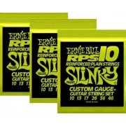 Kit 3sets Encordoamento Guitarra Ernie Ball 10/46 Slinky Rps