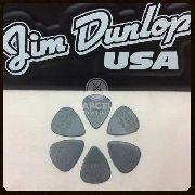 Kit Pacote 6pçs Palheta Dunlop Nylon 0.73mm Cinza