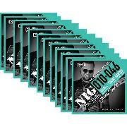 Kit 12sets Encordoamentos Guitarra 010/046 Nig Cacau Santos