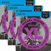 Kit 3sets Encordoamento Guitarra D Addario Exl 120 009/042