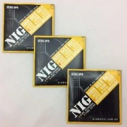 Kit 3sets Encordoamento Violão Nig 010/47 Aço