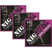 Kit 3 sets Encordoamento Guitarra 012/054 Nig