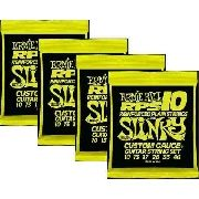 Kit 4sets Encordoamento Guitarra Ernie Ball 10/46 Slinky Rps