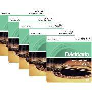 Kit 5sets Encordoamento Violão Aço D'addario 012/54 Ez 920