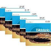 Kit 5sets Encordoamento Violão Aço D'addario 011/52 Ez 910b
