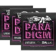 Kit 3sets Encordoamento Guitarra Ernie Ball Paradigm 009-042