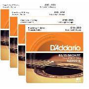 Kit 4sets Encordoamento Violão Aço D'addario 010/050 Ez 900