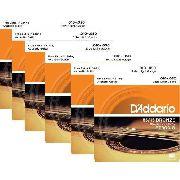 Kit 6sets Encordoamento Violão Aço D'addario 010/050 Ez 900