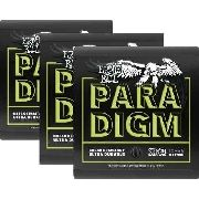Kit 3sets Encordoamento Guitarra Ernie Ball Paradigm 010/046