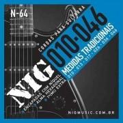 Encordoamento Guitarra 010/046 Nig