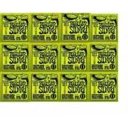 Kit 12jgs Encordoamentos Guitarra Ernie Ball 010/046 2221