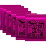 Kit 6jg Encordoamento Guitarra Ernie Ball 09/42 Super Slinky 2223