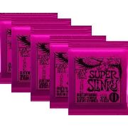 Kit 5jg Encordoamento Guitarra Ernie Ball 09/42 Super Slinky