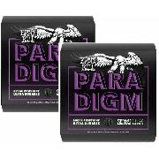 Kit 2sets Encordoamento Guitarra Ernie Ball Paradigm 011/048