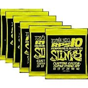 Kit 6sets Encordoamento Guitarra Ernie Ball 10/46 Slinky Rps