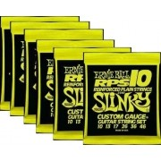 Kit 6sets Encordoamento Guitarra Ernie Ball 10/46 Slinky Rps