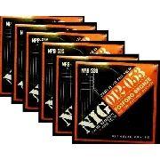 Kit 6sets Encordoamento Violão Nig 012/53 Aço Fosforo Bronze