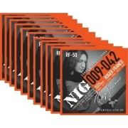 Kit 12sets Encordoamento Guitarra 009/042 Nig Roger Franco!