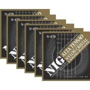 Kit 6sets Encordoamento Violão Nylon Nig Alta Tensão N-470