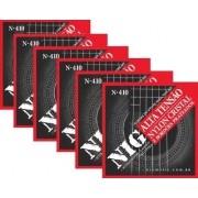 Kit 6sets Encordoamento Violão Nylon Nig Alta Tensão