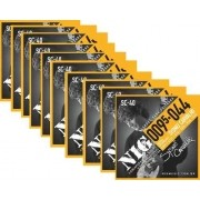 Kit 10sets Encordoamento Guitarra 095/44 Nig Sydnei Carvalho