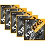 Kit 5sets Encordoamento Guitarra 095/044 Nig Sydnei Carvalho