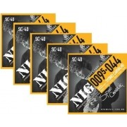 Kit 5sets Encordoamento Guitarra 095/044 Nig Sydnei Carvalho