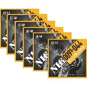 Kit 6sets Encordoamento Guitarra 095/044 Nig Sydnei Carvalho