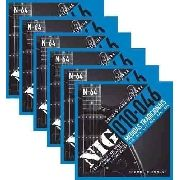 Kit 6sets Encordoamento Guitarra 010/046 Nig