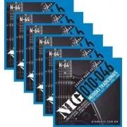 Kit 6sets Encordoamento Guitarra 010/046 Nig