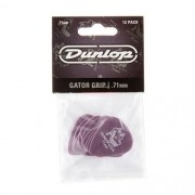 Kit Pacote 12pçs Palheta Dunlop Gator Grip 0,71mm