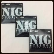 Kit 3sets Encordoamento Guitarra 011/052 Nig