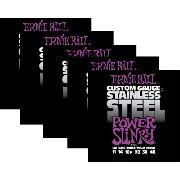 Kit 5sets Encordoamento Guitarra Ernie Ball 011/48 Stainless