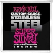 Encordoamento Guitarra Ernie Ball 011/48 Stainless Steel