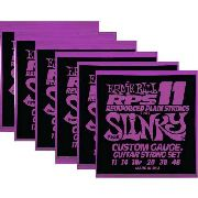 Kit 6sets Encordoamento Guitarra Ernie Ball 11/48 Slinky Rps