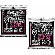 Kit 2sets Encordoamento Guitarra Ernie Ball 009/42 Coated