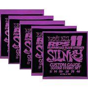 Kit 5sets Encordoamento Guitarra Ernie Ball 11/48 Slinky Rps