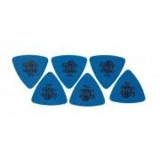 Kit Pacote 6pçs Palheta Dunlop Tortex Triangles 1,0mm