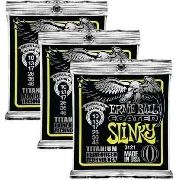 Kit 3sets Encordoamento Guitarra Ernie Ball 10/046 Coated