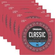 Kit 6sets Encordoamento D'addario Classic Nylon Tensao Alta Ej27H