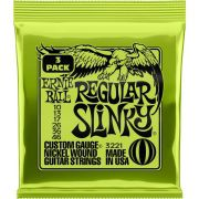 Pack 3 Encordoamentos Ernie Ball Slink 010-046 Guitarra