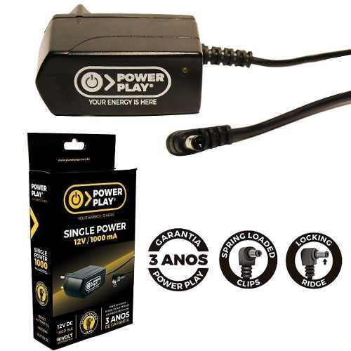 Fonte Power Play Single Power Para Pedais- 12v Dc 1000ma