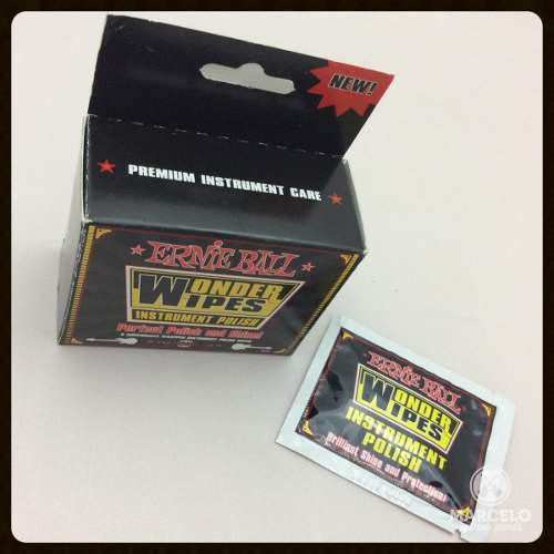 Pack 6pçs Polidor Ernie Ball Wonder Wipes Instrument Polish!