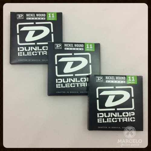 Kit 3sets Encordoamento Guitarra Dunlop 011/50